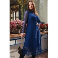 Платье с флоковым напылением