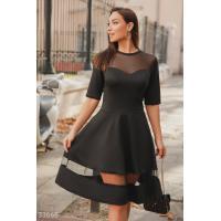Платье с прозрачными вставками