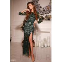 Платье изумрудного оттенка