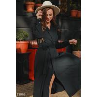 Черное платье на запа́х
