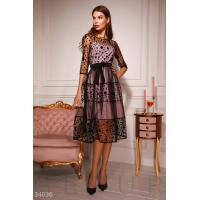 Платье в контрастный горошек