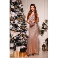 Золотистое платье с пайеткой
