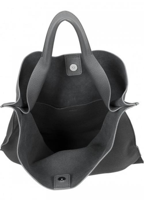 Черная кожаная сумка Bohemia