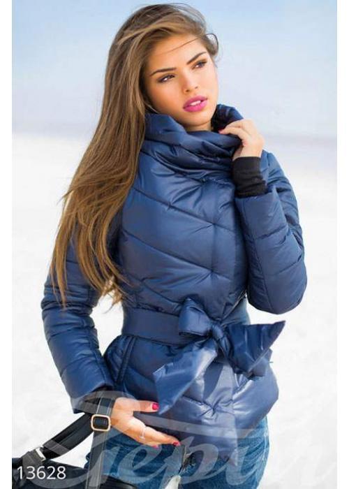 Куртка темно-синяя с высоким воротом 13628 купить по цене 855 грн. в Украине — интернет-магазин Modesti