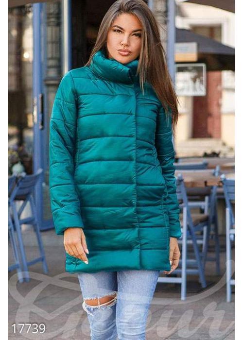 Удлиненная синтепоновая куртка 17739 купить по цене 998 грн. в Украине — интернет-магазин Modesti