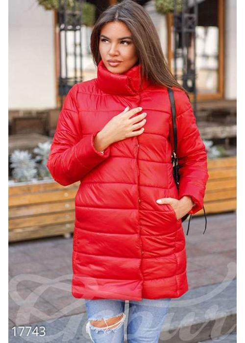 Удлиненная синтепоновая куртка 17743 купить по цене 998 грн. в Украине — интернет-магазин Modesti