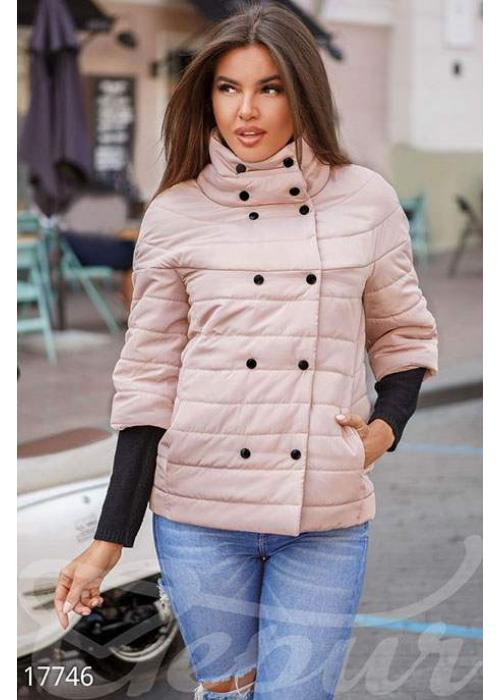Двубортная демисезонная куртка