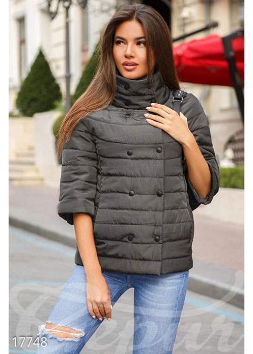 Двубортная демисезонная куртка 17748 купить по цене 895 грн. в Украине — интернет-магазин Modesti