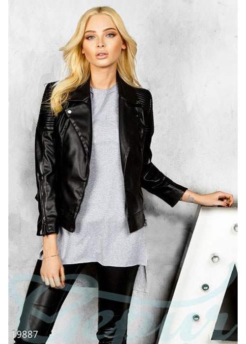 Экокожаная куртка косуха