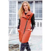 Плотная экокожаная куртка