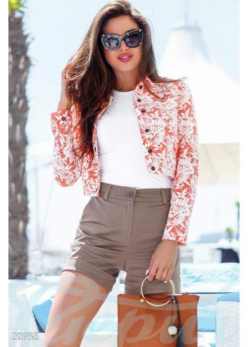 Куртка с цветами 20958 купить по цене 1 395 грн. в Украине — интернет-магазин Modesti