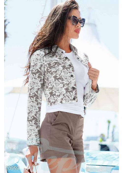 Куртка с цветами 20959 купить по цене 1 395 грн. в Украине — интернет-магазин Modesti