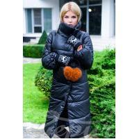 Объемное стеганое пальто