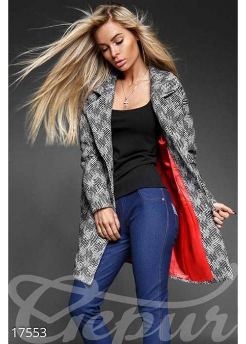 Уютное твидовое пальто 17553 купить по цене 1 550 грн. в Украине — интернет-магазин Modesti
