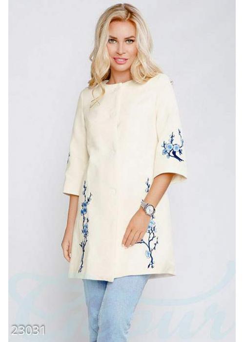 Пальто с нашивкой 23031 купить по цене 1 040 грн. в Украине — интернет-магазин Modesti