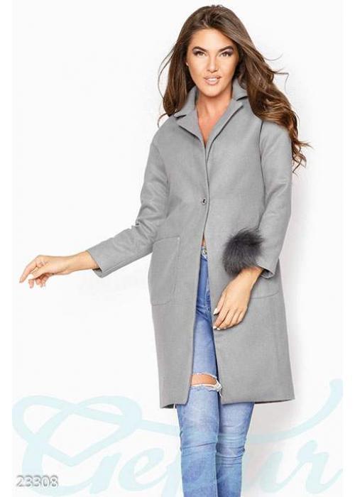 Декорированное кашемировое пальто