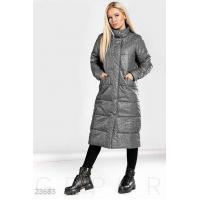 Теплое пальто меланж