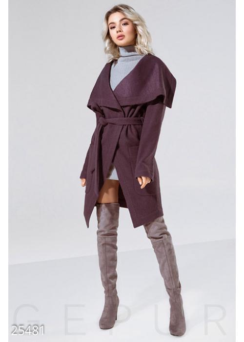 Мягкое женское пальто