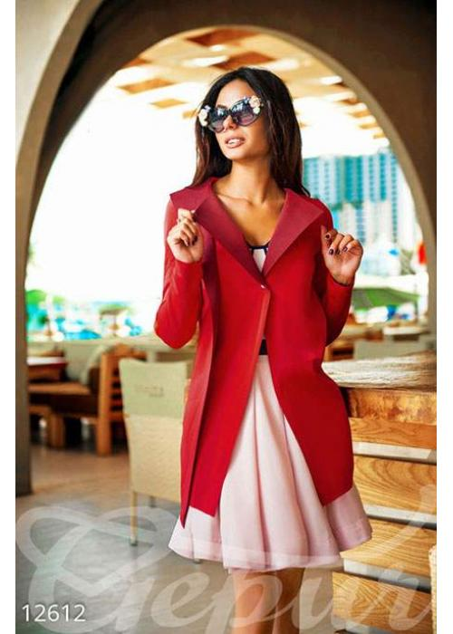 Красный длинный жакет 12612 купить по низкой цене в Украине — интернет-магазин Modesti
