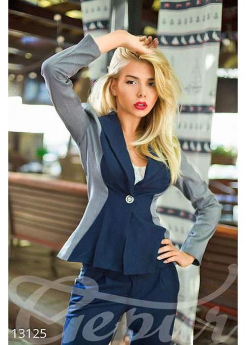 Двухцветный классический пиджак из тиара-шерсти