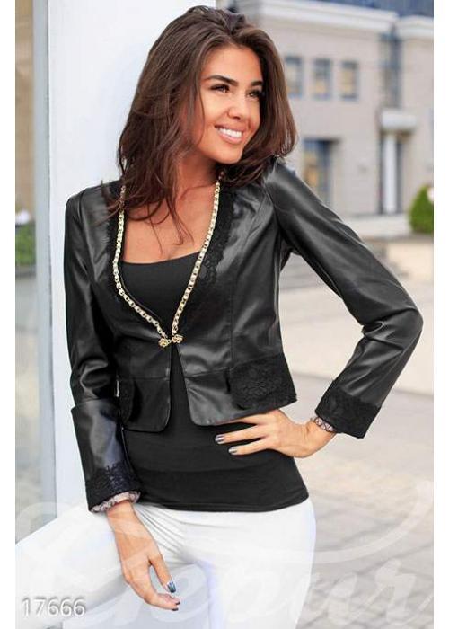Легкий кожаный жакет 17666 купить по цене 995 грн. в Украине — интернет-магазин Modesti