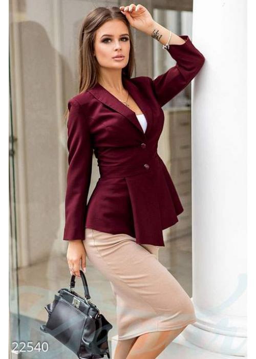 Жакет с баской 22540 купить по цене 810 грн. в Украине — интернет-магазин Modesti