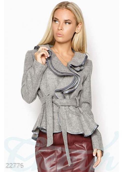 Кашемировый пиджак воланами 22776 купить по цене 1 080 грн. в Украине — интернет-магазин Modesti