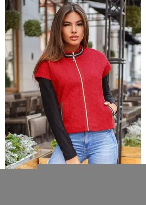 Теплая женская жилетка 22885 купить по низкой цене в Украине — интернет-магазин Modesti